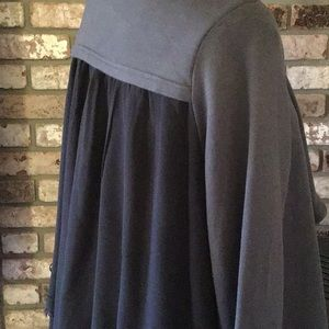 XCVI Asymmetrical Jacket with chiffon back